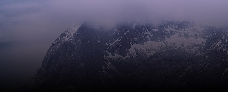Mountains with dark skies